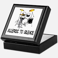 Allergic to silence drummer Keepsake Box