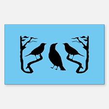 Dark Birds Silhouette Rectangle Decal