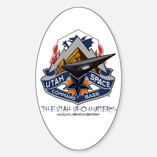 Utah Space Command Oval Decal