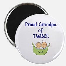 Grandpa of Twins Magnet