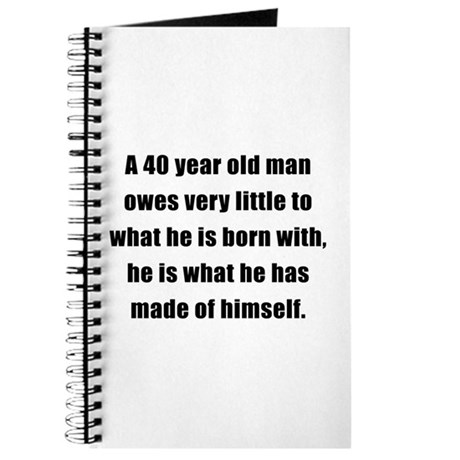 40th Birthday Gifts for Men Journal
