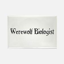 Werewolf Biologist Rectangle Magnet