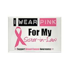 I Wear Pink (SIL) Rectangle Magnet