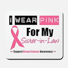 I Wear Pink (SIL) Mousepad