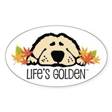 Life's Golden Fall Oval Decal