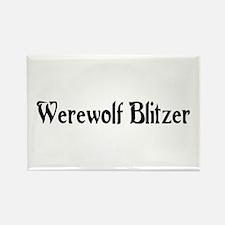 Werewolf Blitzer Rectangle Magnet