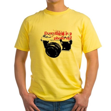 Everything's a photo op Yellow T-Shirt