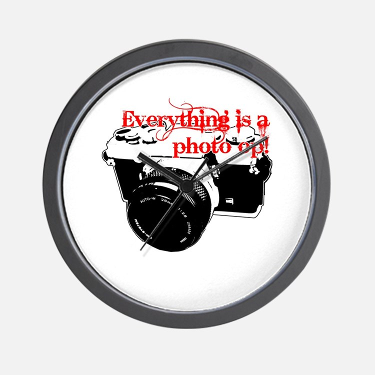 Everything's a photo op Wall Clock