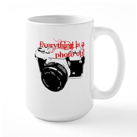 Everything's a photo op Large Mug