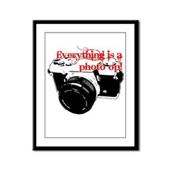 Everything's a photo op Framed Panel Print