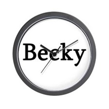 Becky - Personalized Wall Clock