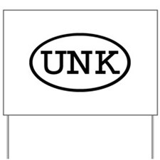 UNK Oval Yard Sign