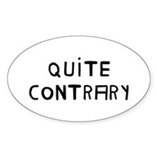 Quite Contrary Oval Decal