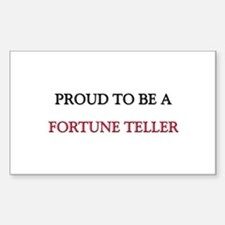Proud to be a Fortune Teller Rectangle Decal