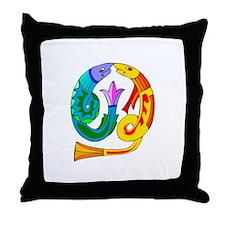 Abstract Art Fish Throw Pillow