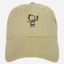 Girl & Coffee Baseball Baseball Cap