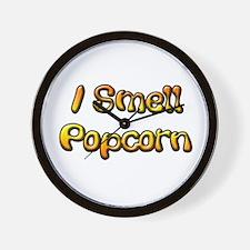 I Smell Popcorn Wall Clock