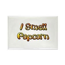 I Smell Popcorn Rectangle Magnet