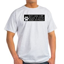 ADopt Rescue Ash Grey T-Shirt