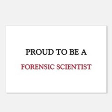 Proud to be a Forensic Scientist Postcards (Packag
