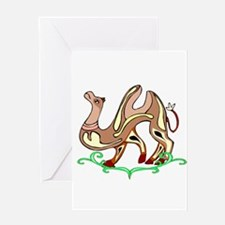 Abstract Art Camel Greeting Card