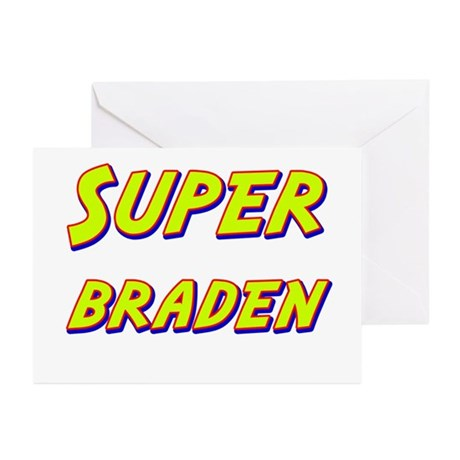 Super braden Greeting Cards (Pk of 10)