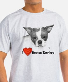 I (heart) Boston Terriers - T-Shirt