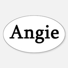 Angie - Personalized Oval Decal