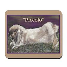 """""""Piccolo"""" Rabbit Portrait Mousepad"""