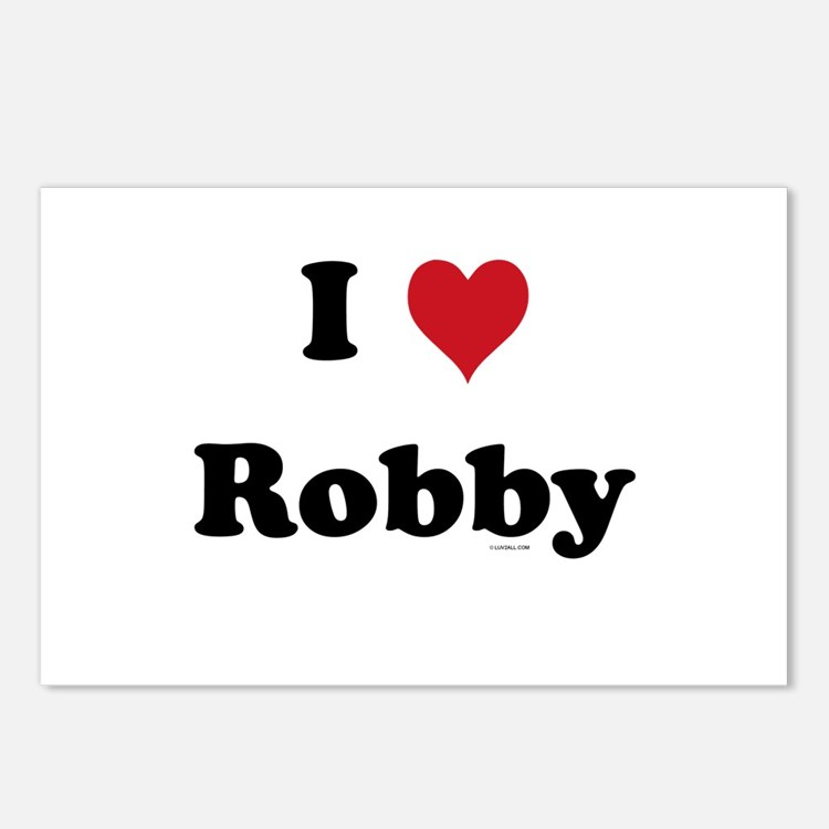 I love Robby Postcards (Package of 8)