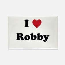 I love Robby Rectangle Magnet