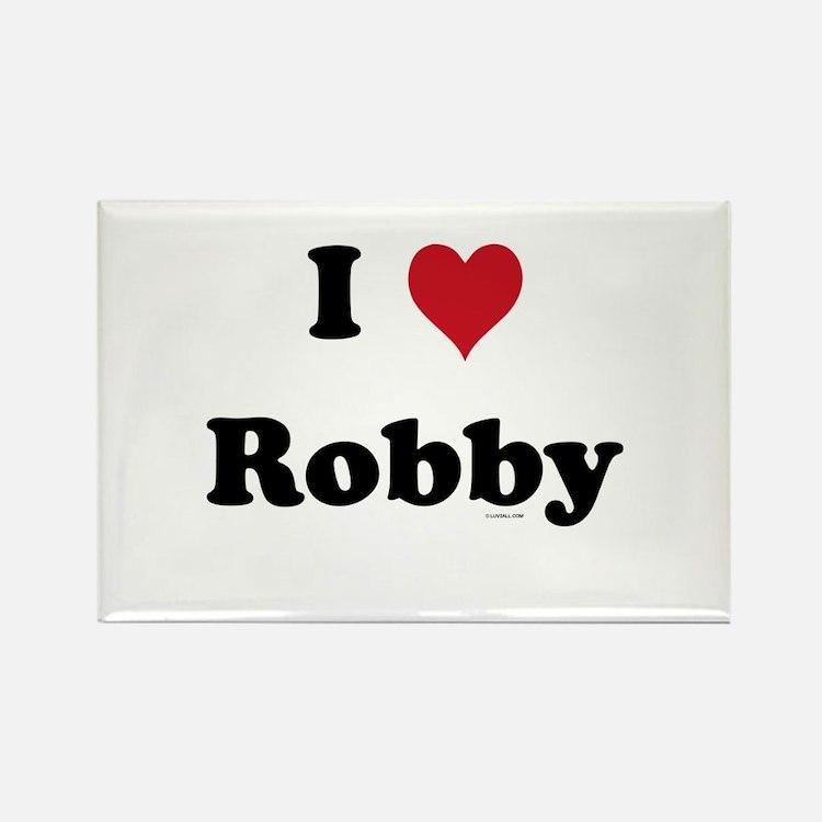 I love Robby Rectangle Magnet