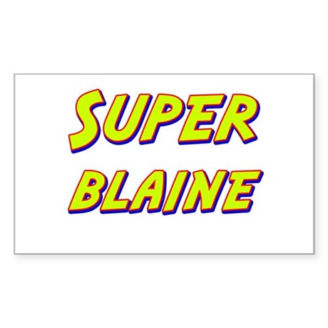 Super blaine Rectangle Sticker