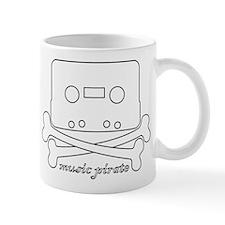 Cool Music Pirate Skull Mug