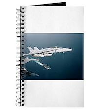 F-18 Hornet Soars Over USS En Journal