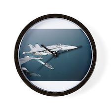 F-18 Hornet Soars Over USS En Wall Clock