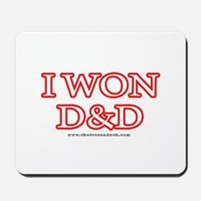 I Won DnD Mousepad