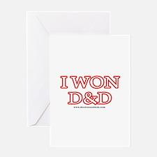I Won DnD Greeting Card