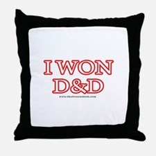 I Won DnD Throw Pillow