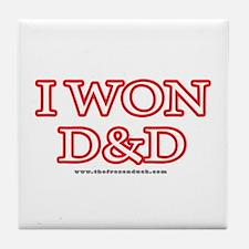 I Won DnD Tile Coaster
