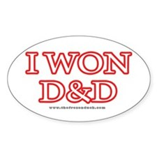 I Won DnD Oval Decal