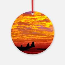 Sunset Over Ramstein Keepsake (Round)