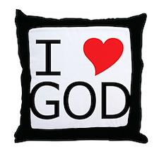 I Heart God Throw Pillow