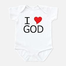 I Heart God Infant Bodysuit