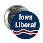 Patriotic Iowa Liberal Button