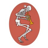 Skeleton trumpet Oval Ornaments