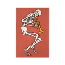 Trumpeter Skeleton Rectangle Magnet