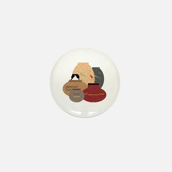Clay Pots Mini Button
