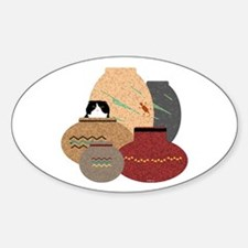 Clay Pots Oval Decal