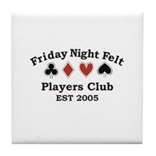 Funny Night suit Tile Coaster